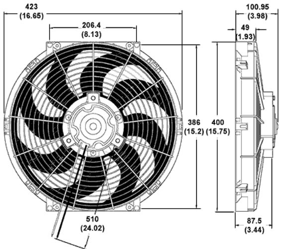 Billet4x4 Com Miscellaneous 4x4 Gear 24 Volt Radiator Fan